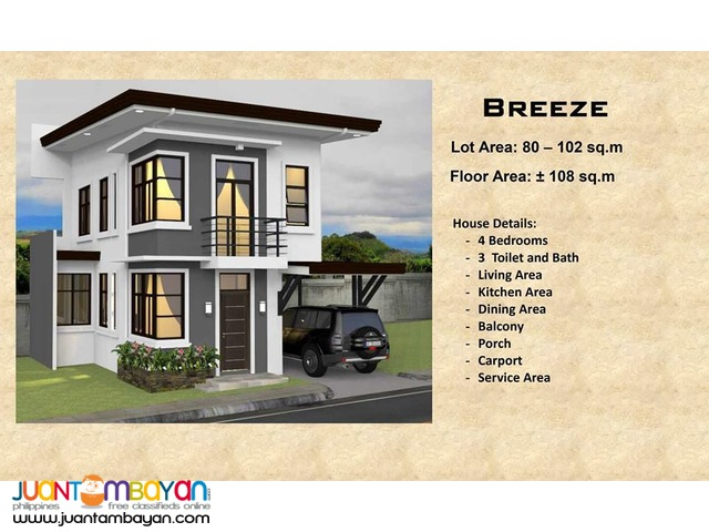 4 BR - Ricksville Heights Minglanilla, Cebu overlooking house and lot