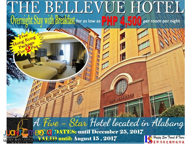 The Bellevue Manila Promo with Free Hong Kong Package