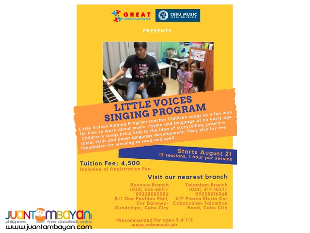 Little Voices Singing Program