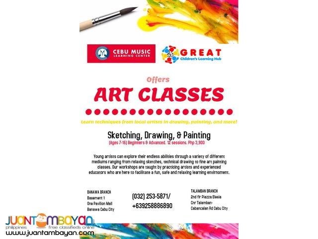 ART IS HOW WE DECORATE SPACE. ENROLL IN OUR ART CLASSES
