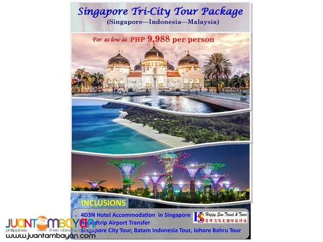 4D3N Singapore Tri-City (Singapore – Malaysia – Indonesia)