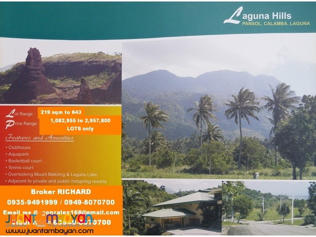 LAGUNA HILLS Calamba Laguna Limited Lots for Sale - only 5,000/sqm