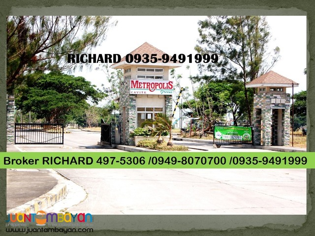 METROPOLIS GREENS Gen Trias Cavite LOW Price Lot = only 4,800/sqm