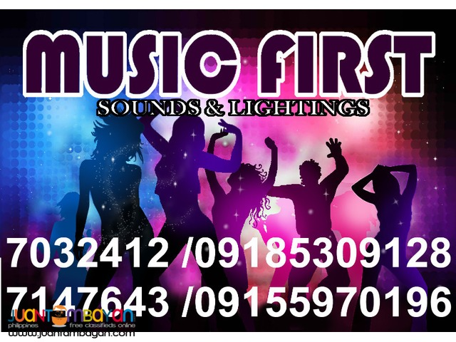 MUSIC FIRST SOUND SYSTEM RENTAL MANILA LIGHTS RENT@09155970196