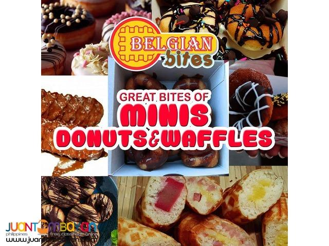 food cart franchise belgian bites waffle donut!