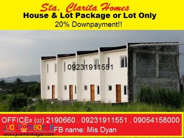 Sta Clarita House and Lot for Sale in Montalban near QC