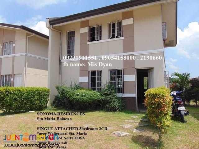 Single House and Lot for Sale in Sta Maria Bulacan Sonoma Residences