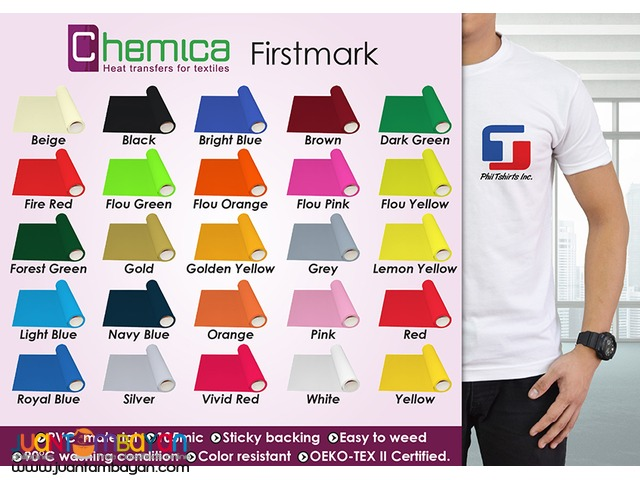 T Shirt Printing Business - Chemica Firstmark Heat Transfer Vinyl