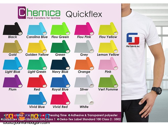 T Shirt Printing Business - Chemica Quickflex Heat Transfer Vinyl