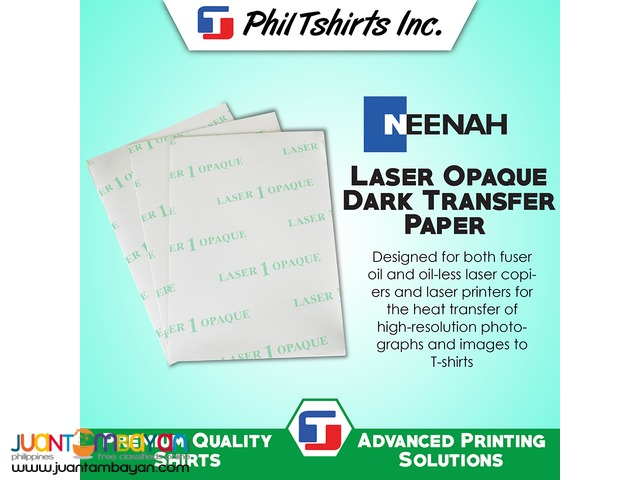 T Shirt Printing Business - Laser Opaque Dark Transfer Paper A4