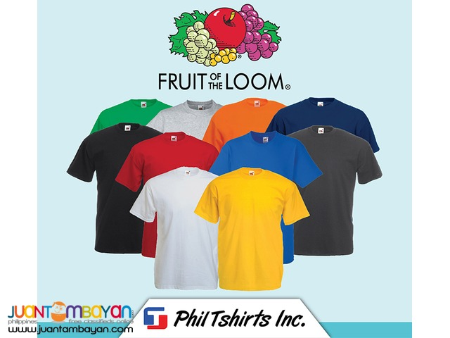 a0f002f2 T Shirt Printing Business - Fruit of the Loom Soft Premium | Manila ...