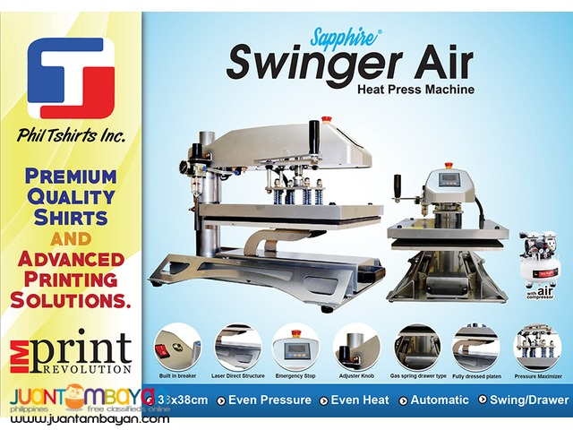 T Shirt Printing Business - Sapphire Swinger Air Heat Press Machine