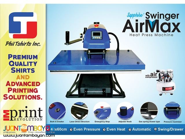 T Shirt Printing Business-Sapphire Swinger Air Max Heat Press Machine
