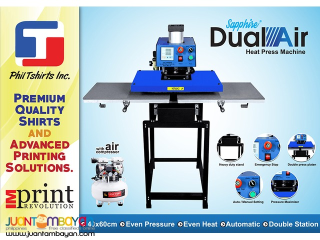 T Shirt Printing Business - Sapphire Dual Air Heat Press Machine
