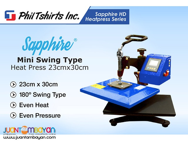 T Shirt Printing Business-Sapphire Mini Swing Type Heat Press Machine
