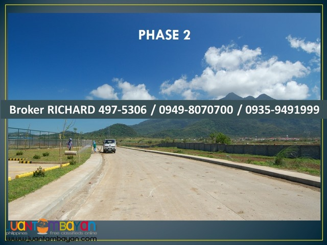 PONTEVERDE Batangas Lots = 4,800/sqm