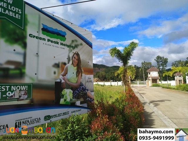 Greenpeak Heights Baras Rizal Lots = 6,500 TO 7,000/sqm