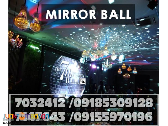 RETRO DISCO DANCE PARTY LIGHTS MIRROR BALL RENTAL@09185309128