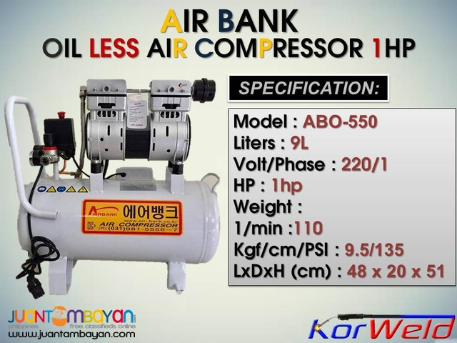 Air Compressor Oil less