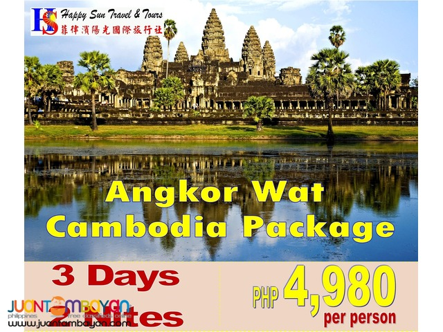 3D2N Cambodia: Angkor Wat Tour Package