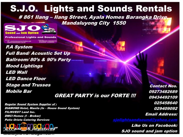 Lights and Sounds For Rent