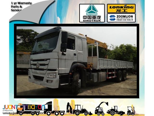 Boom truck with 5.5T Boomer SINOTRUK  Howo