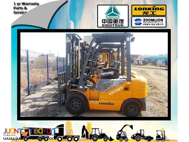 Lonking Brand New LG15DT Diesel Forklift