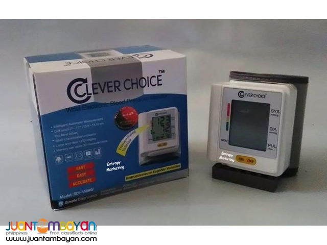CLEVER CHOICE DIGITAL WRIST BLOOD PRESSURE MONITOR SDI-1586W