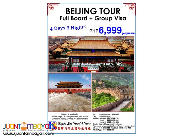 Beijing Full Board with China Group Visa