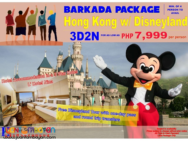 Barkada Package: Hong Kong with Free Disneyland