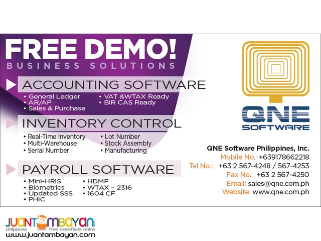 QNE Accounting Software-Affordable and Quick To Learn