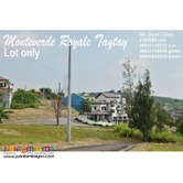 Overlooking Lot for Sale n Taytay nr ClubManilaEast Monteverde Royale