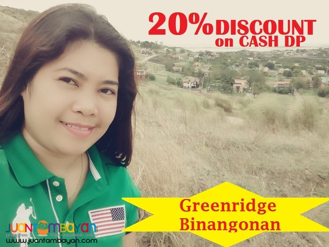 Greenridge Subdivision overlooking Lot Sale in Binangonan