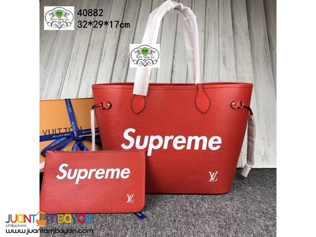 LOUIS VUITTON NEVERFULL SUPREME - LV NEVERFULL RED