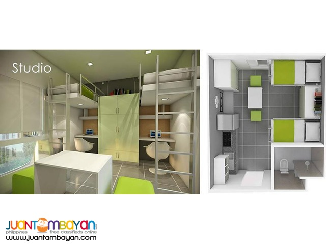 Studio Type Unit at Eagle's Nest Condo, Canduman, Mandaue City