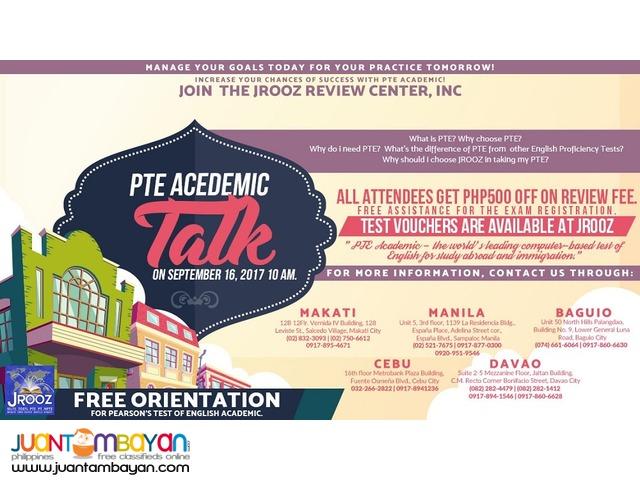 JROOZ PTE Academic Talk – September 16, 2017
