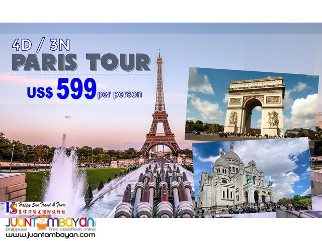 4D3N Paris Tour Package