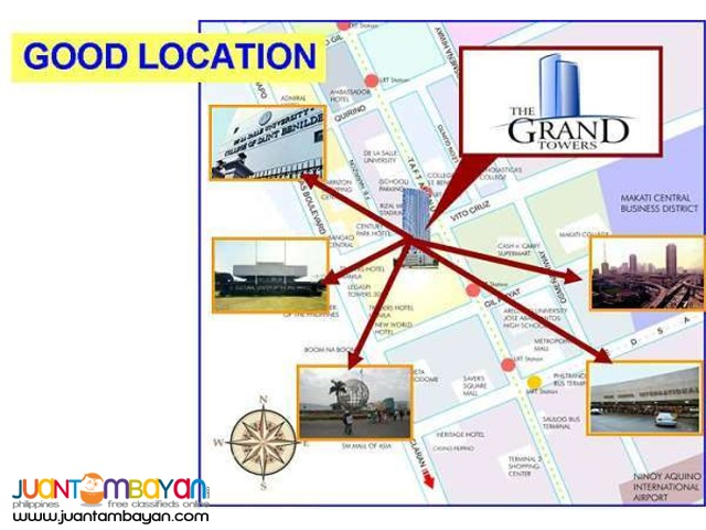 rush sale 2 br Manila condo for sale The Grand Towers Manila