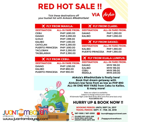 Domestic & International Flight - RED HOT SALE