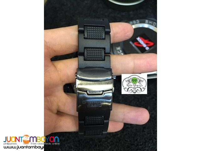 CASIO G SHOCK - GSHOCK METAL FACE WITH RUBBER STRAP