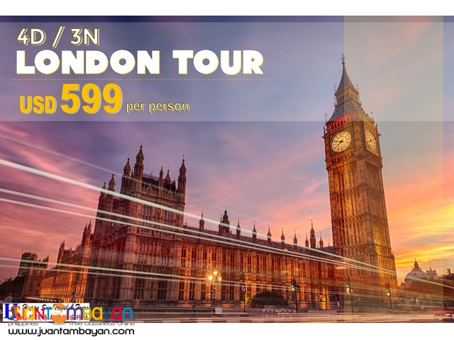 4D3N London Tour Package