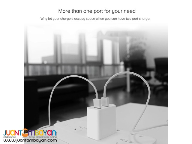 Mi 2-Port QC3.0 Quick Charge USB Travel Wall Charger