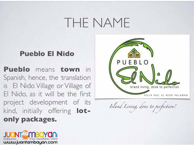 EL NIDO, PALAWAN SUBDIVIDED LOTS! 10k Reservations only!
