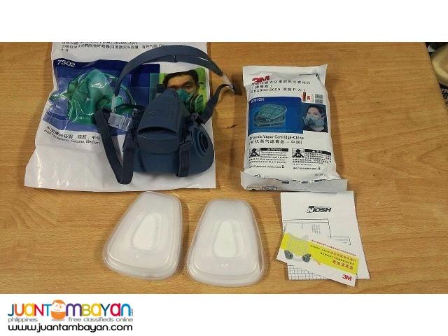 3M 7502 7-piece Respirator Spray Painting  Face Mask