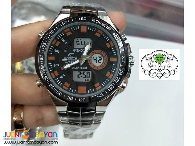 CASIO EDIFICE - G-SHOCK STAINLESS - GSHOCK EDIFICE WATCH