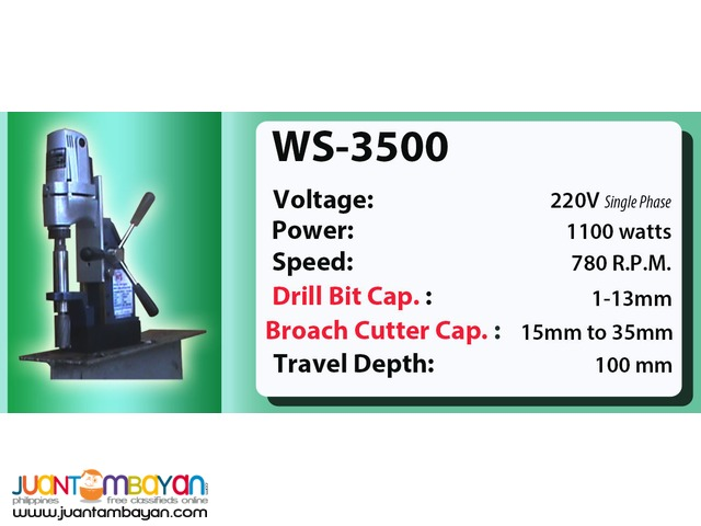 Portable Magnetic Drill WS-3500
