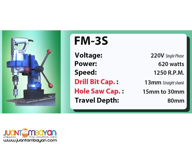 Portable Magnetic Drill FM-3S
