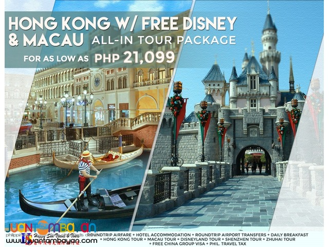 Hong Kong with Free Disneyland & Macau All-In Package