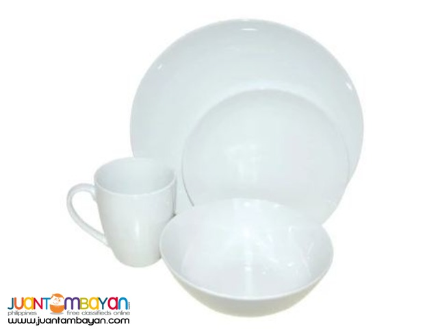 Porcelain Dinner Set 16pcs. (White)