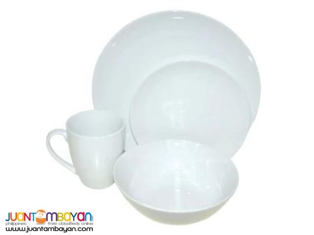 PORCELAIN DINNER SET 24pcs. (White)